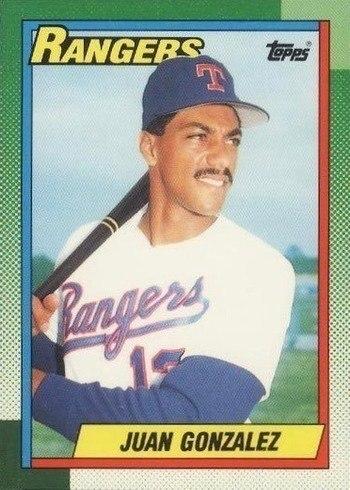 1990 Topps #331 Juan Gonzalez Rookie Card