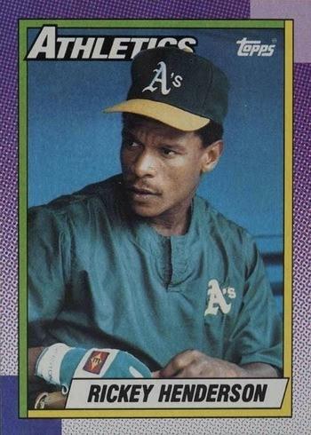 1990 Topps #450 Rickey Henderson Baseball Card