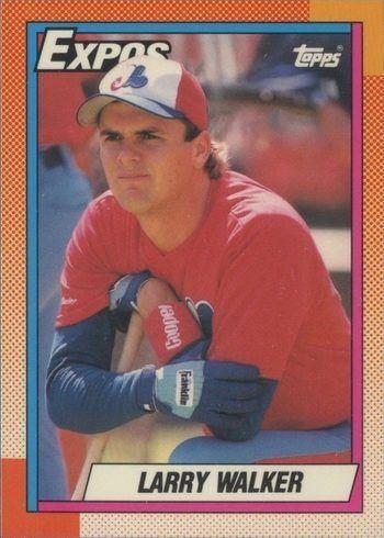 1990 Topps #757 Larry Walker Rookie Card