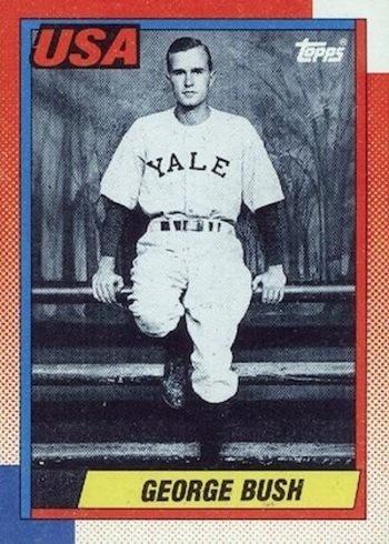 1990 Topps #USA1 George Bush Baseball Card