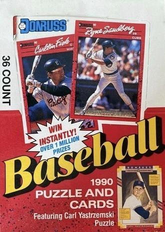 Unopened Box of 1990 Donruss Baseball Cards