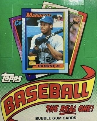 Unopened Box of 1990 Topps Baseball Cards