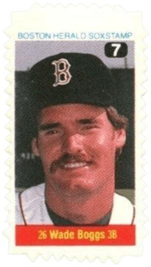 1983 Boston Herald Stamps Wade Boggs Card