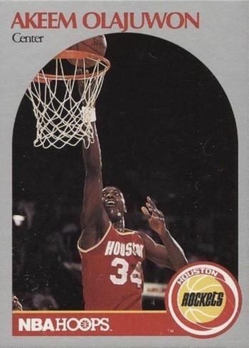 1990 NBA Hoops #127 Hakeem Olajuwon Basketball Card