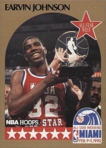 1990 NBA Hoops #18 Magic Johnson All-Star Basketball Card