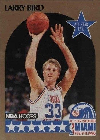 1990 NBA Hoops #2 Larry Bird All-Star Basketball Card
