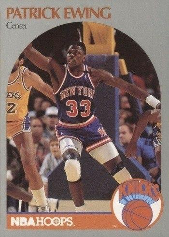 1990 NBA Hoops #203 Patrick Ewing Basketball Card