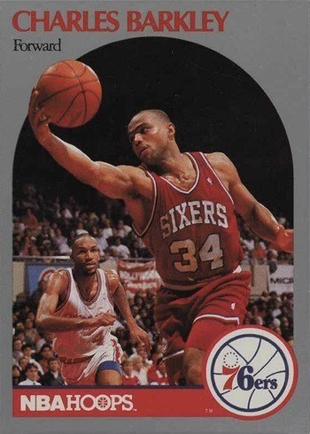 1990 NBA Hoops #225 Charles Barkley Basketball Card