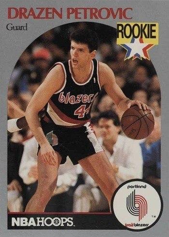 1990 NBA Hoops #248 Drazen Petrovic Rookie Card