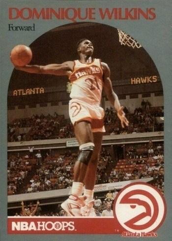 1990 NBA Hoops #36 Dominique Wilkins Basketball Card