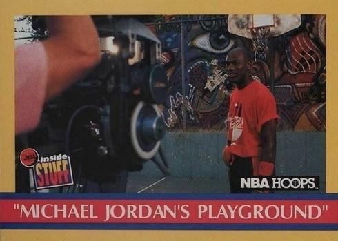 1990 NBA Hoops #382 Michael Jordan's Playground Basketball Card