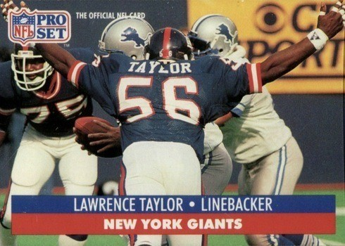 1991 Pro Set #602 Lawrence Taylor Football Card