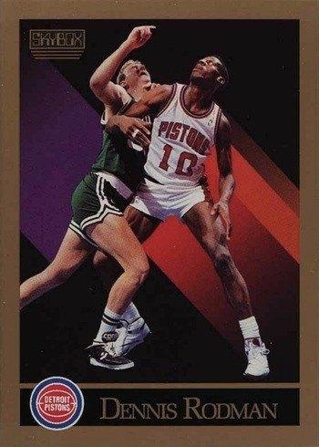 1990 SkyBox #91 Dennis Rodman Basketball Card
