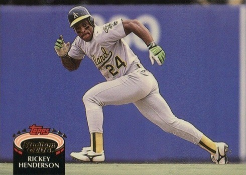 1992 Topps Stadium Club #750 Rickey Henderson Baseball Card