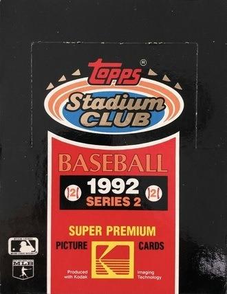 Unopened Box of 1992 Topps Stadium Club Baseball Cards