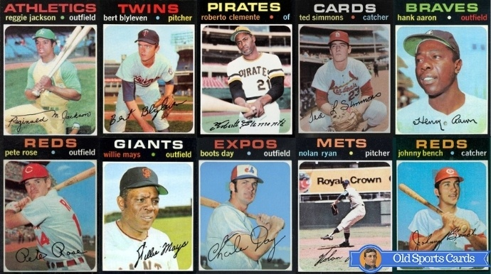 Most Valuable 1971 Topps Baseball Cards